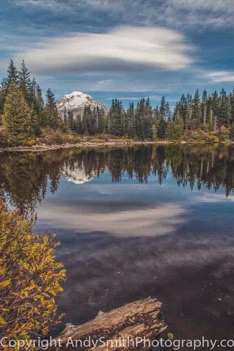 fine art photograph of Fall Reflection of Mt Hood