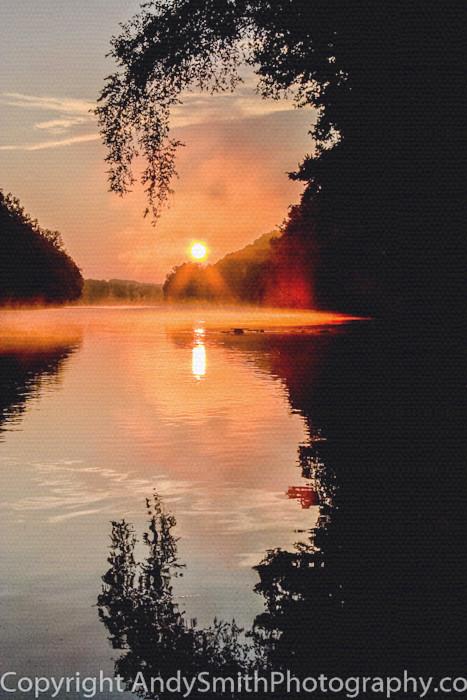 fine art photograph of sunrise on the Scuylkill River
