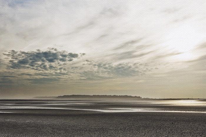 view of Hunting Island beach art print