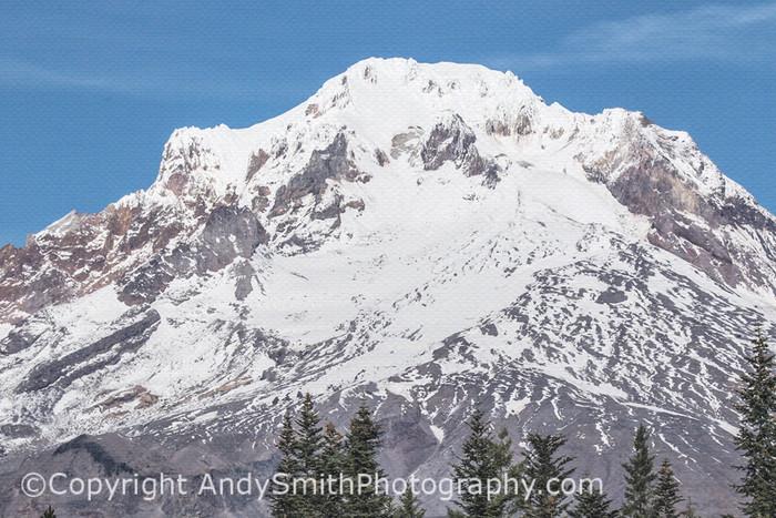 Fine Art Photograph of Mount Hood Summit from Mirror Lake
