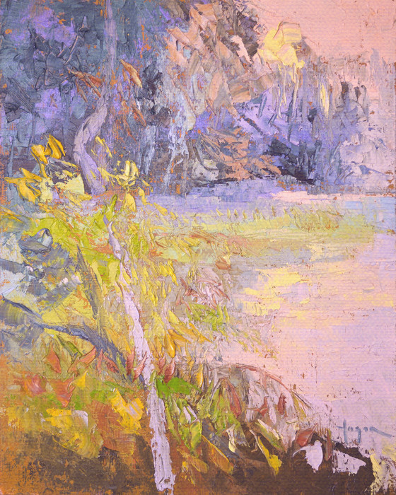 Gently Sunset | Pastel Tone Marsh View Landscape Fine Art Print on Canvas or Paper Dorothy Fagan Collection