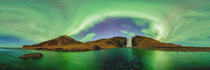 Skógafoss, Iceland - 360 Panorama