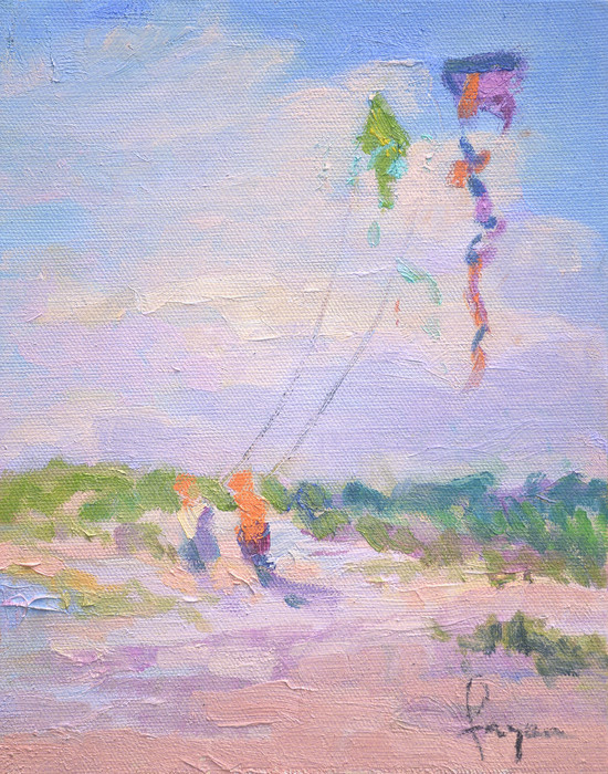 Let's Go Fly a Kite, Fine Art Print on Canvas or Watercolor Paper, Dorothy Fagan Collection