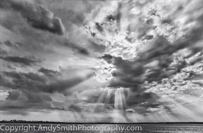 fine art photograph, storm clouds over Cape May