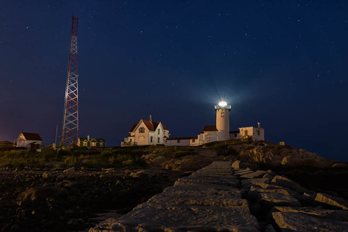 Eastern Point Light Blue Hour