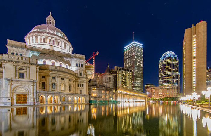 Christian Science reflecting pond