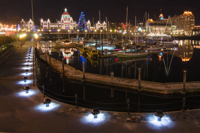 Victoria Inner Harbour Christmas Photograph for Sale as Fine Art.