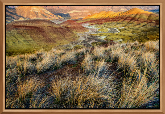 Painted Hills II (131161LND8-P) Photograph for Sale as Metal Fine Art Print