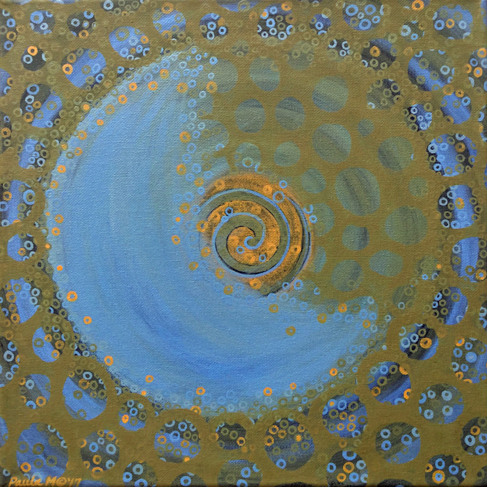 Moon Spiral Abstract oil painting by Paula Manning-Lewis