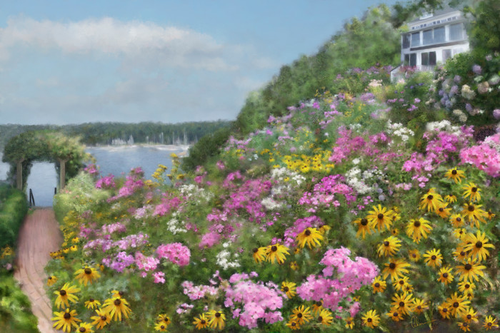 Judy's View. Art by Mary Ahern the Artist.