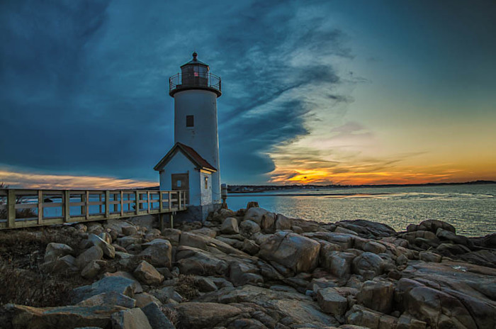 Annisquam Light at Sunset