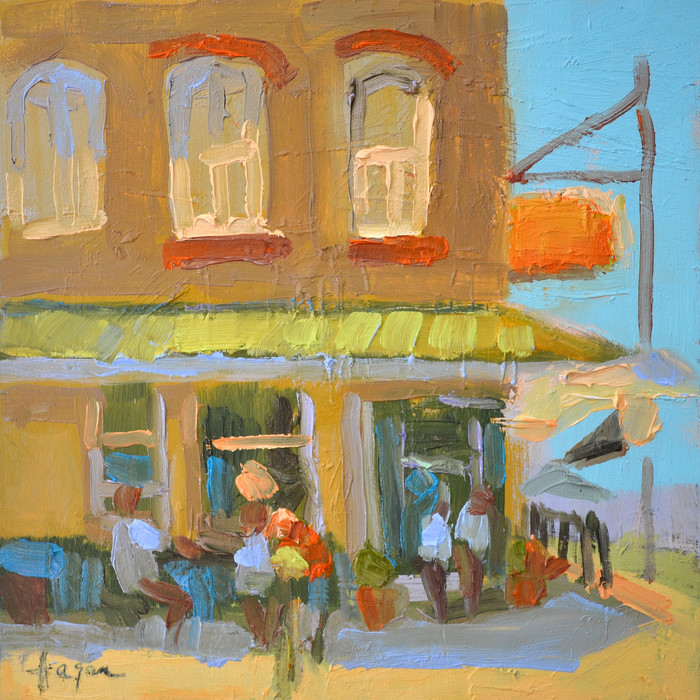 The Village | Painting by Dorothy Fagan