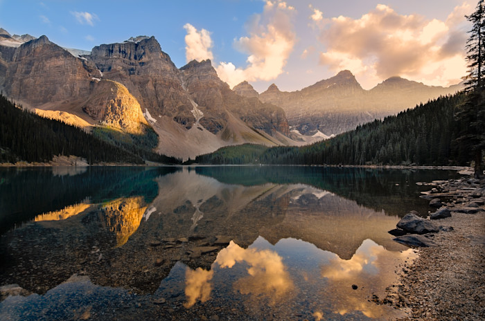 Moraine Lake Evening Photograph for Sale as Fine Art.