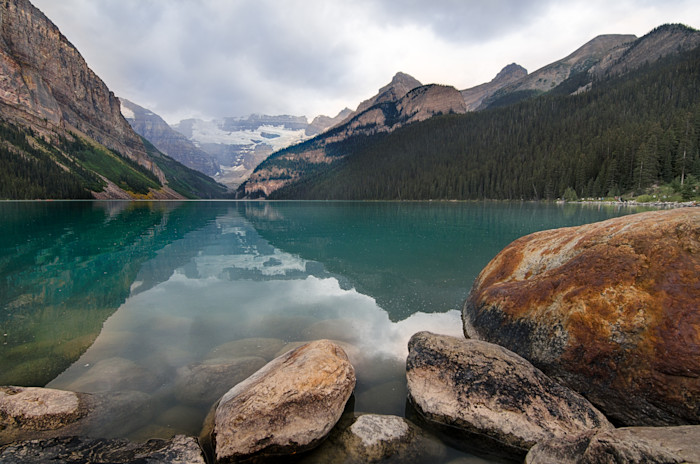 Stormy Lake Louise Photograph for Sale as Fine Art.