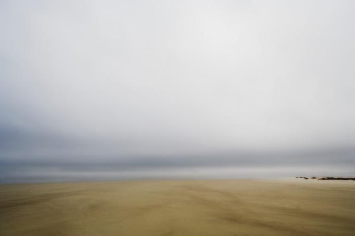 horizon meets sand beach art print