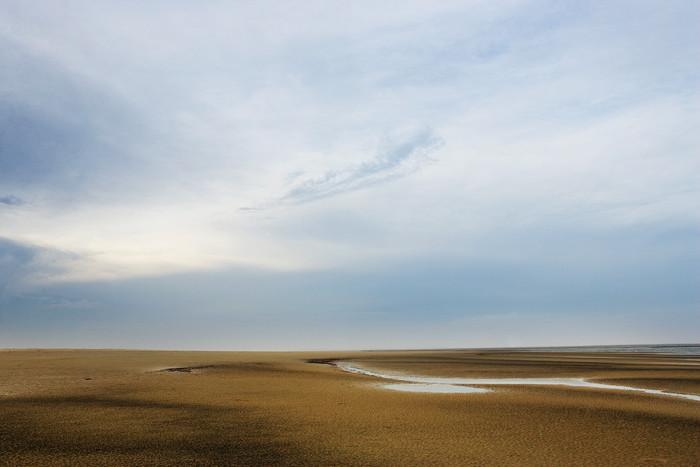 cloud with tide pool beach art print