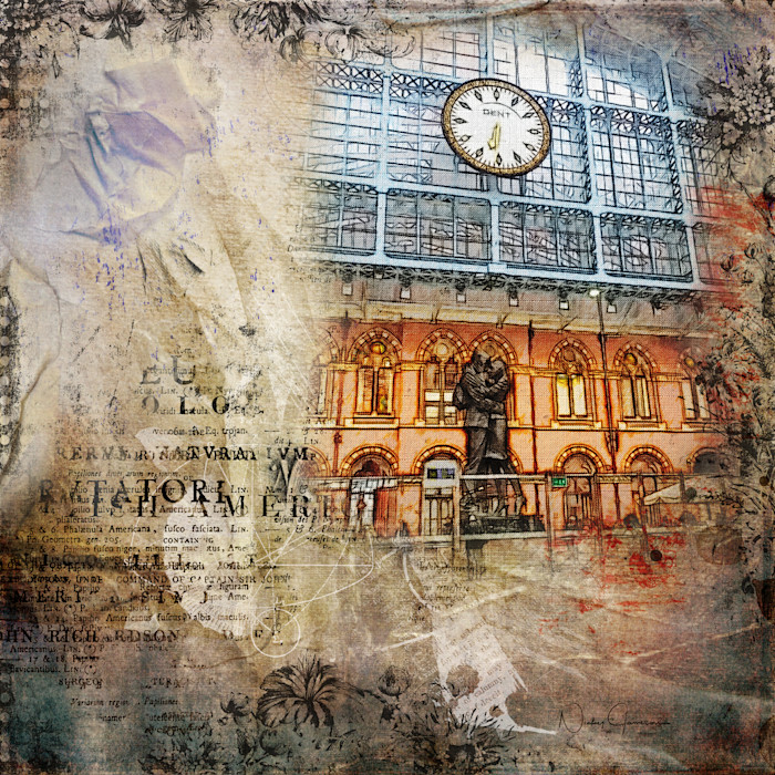 Lovers Statue, The Meeting Place St Pancras   Nicky Jameson