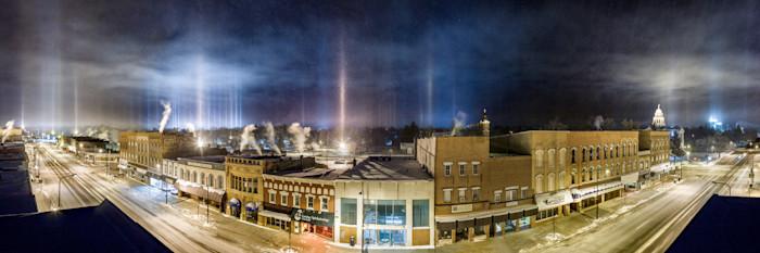Light Pillar Panorama