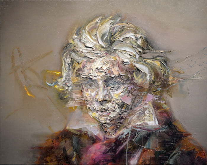 Beethoven Portrait Painting by Contemporary Painter Mathieu Laca