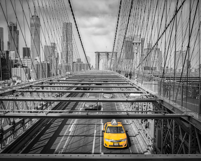 NYC Yellow cab in Brooklyn