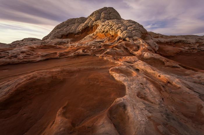 Glow on the Brain Rocks - Douglas Sandquist Photography