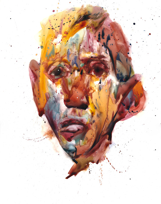 Watercolor painted on Yupo paper- Portraits imagined by Akira Beard