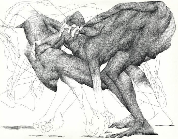 Ink Drawing-Drawing from Life (the subconscious)- by Akira Beard