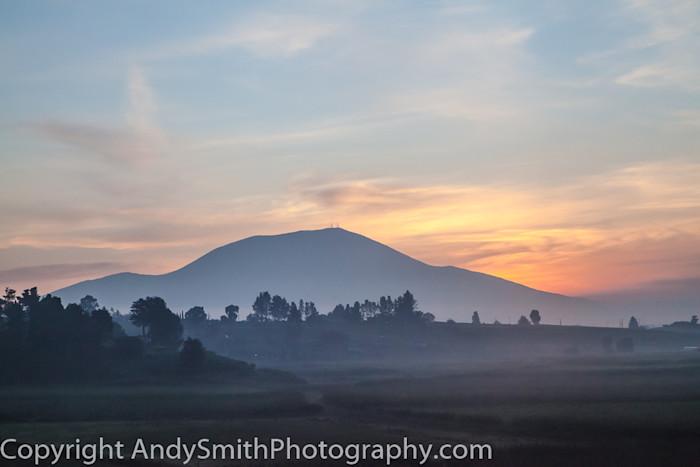 fine art photograph of sunrise on a misty morning
