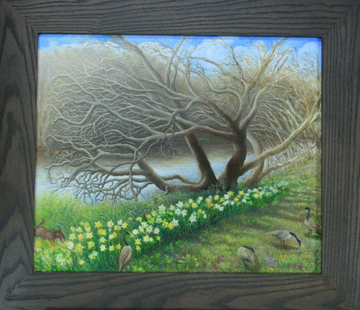 Catawba_tree_with_daffodils_-_painting_-_rafferty_lrjnmu