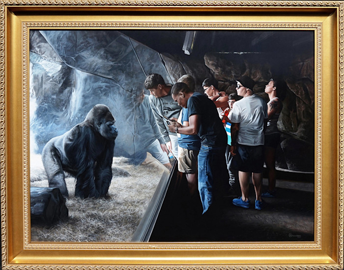 Kevin_grass-primates_framed-acrylic_on_panel_painting_tulowz