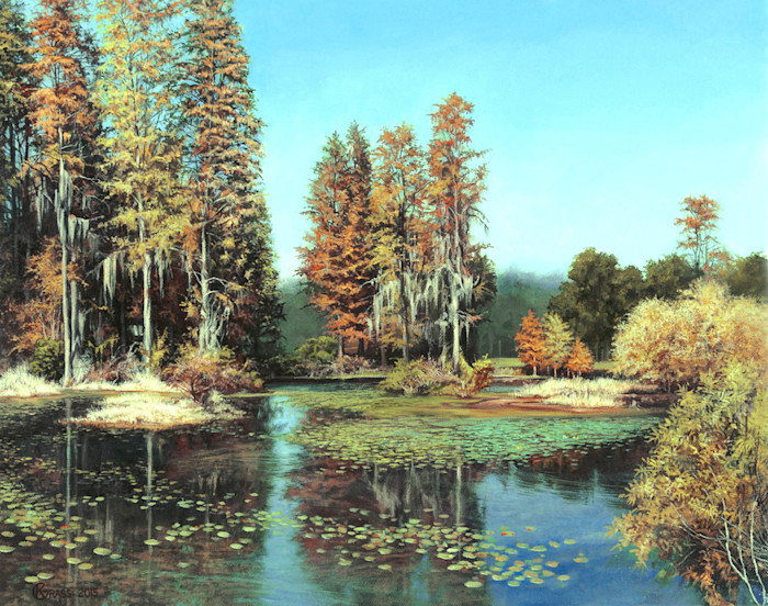 Kevin_grass-autumn_pond-acrylic_on_canvas_painting_socjfq