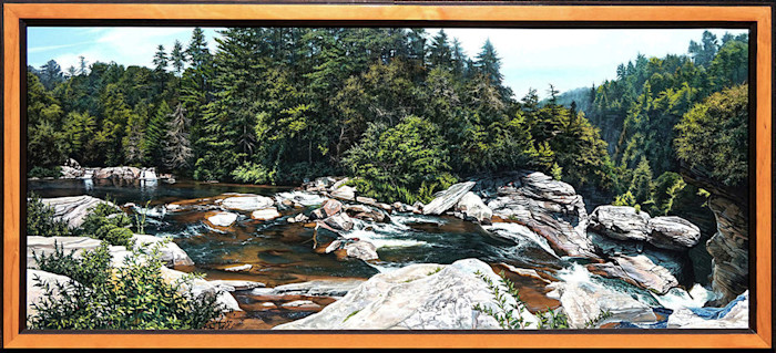 Kevin_grass-upper_linville_falls_framed-acrylic_on_panel_painting_qovbpd