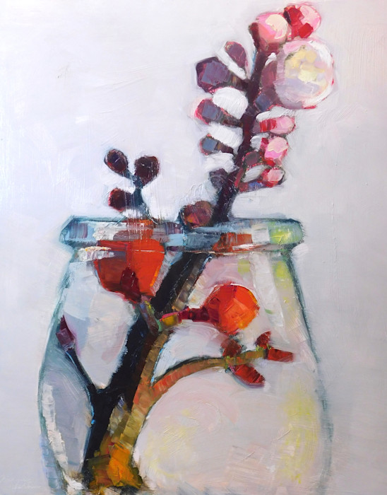 Together_still_life_with_red_quince_and_apricot_blooms_nk_oil_and_mixed_media_on_wood_30_22x24_22_wr4t2x