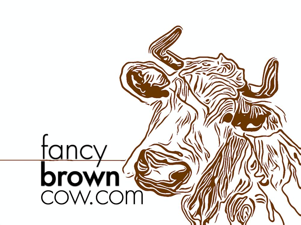 Fancy Brown Cow
