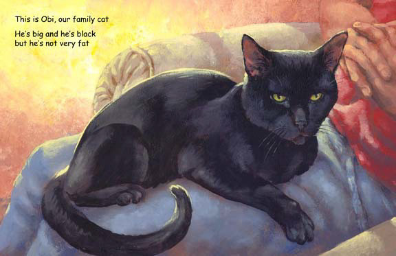 CatTV page with black cat, storybook by Herb Leonhard