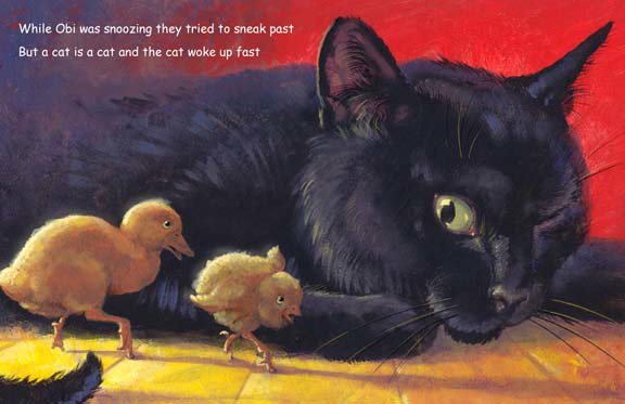 CatTV-black cat peeping, storybook by Herb Leonhard