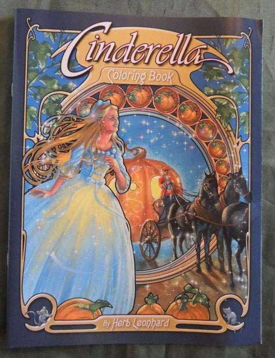 Cinderella coloring book cover
