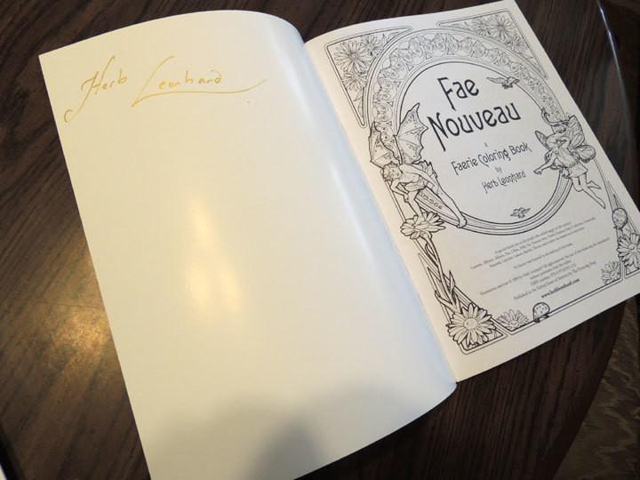 Fae Nouveau coloring book