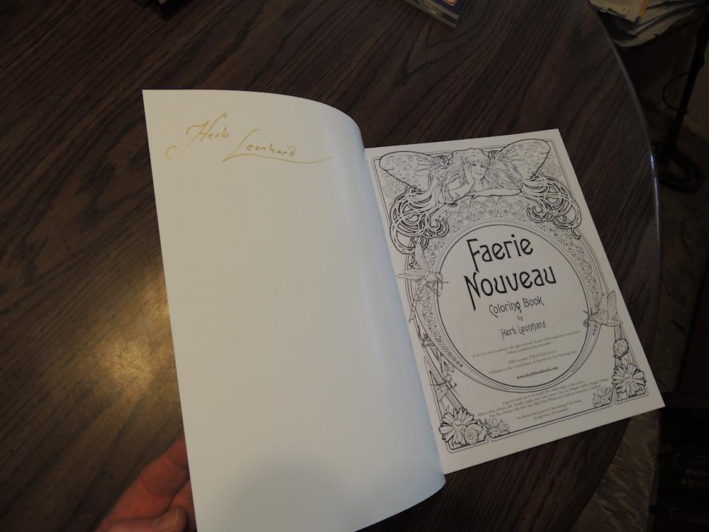 first page faerie nouveau