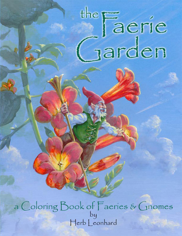 The Faerie Garden coloring book