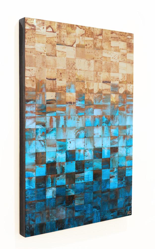 Placido No.3 - Original wall art by copper artist Adam Colangelo