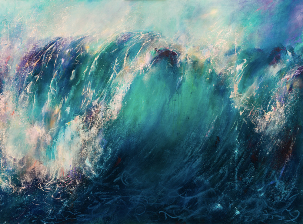 The Release - Abstract Ocean Painting | Samantha Kaplan