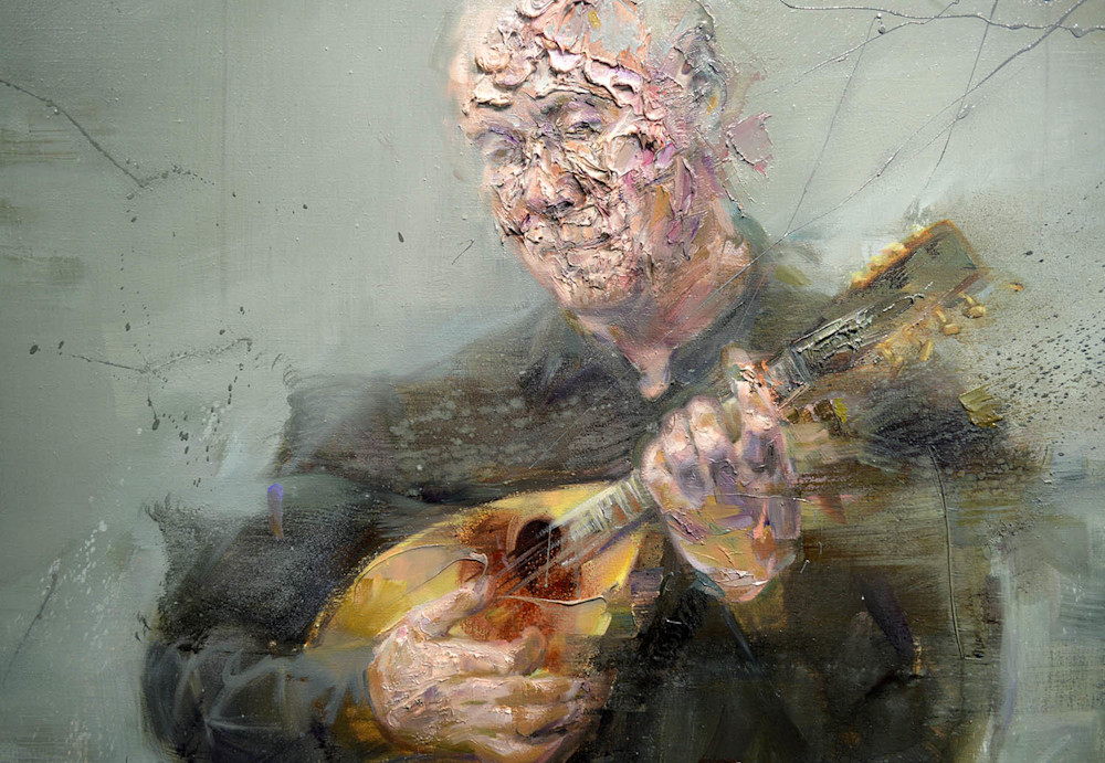 Detail of Jean with Mandolin