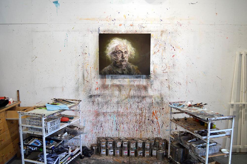 Albert Einstein portrait in the studio