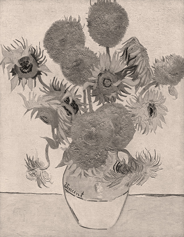 Still-life-with-sunflowers-by-Van-Gogh-sepia-oa8e82
