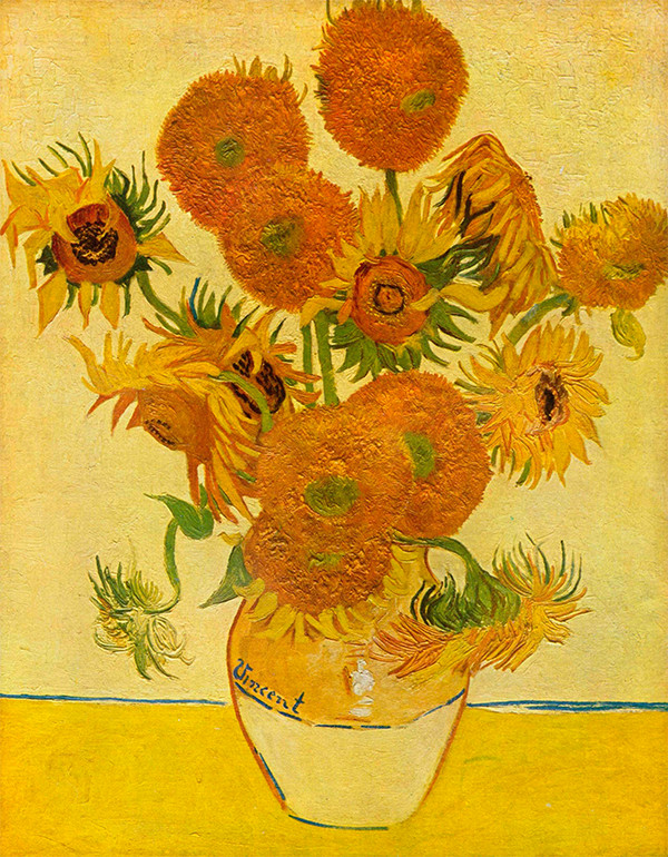 Still-life-with-sunflowers-by-Van-Gogh-color-xxftkw