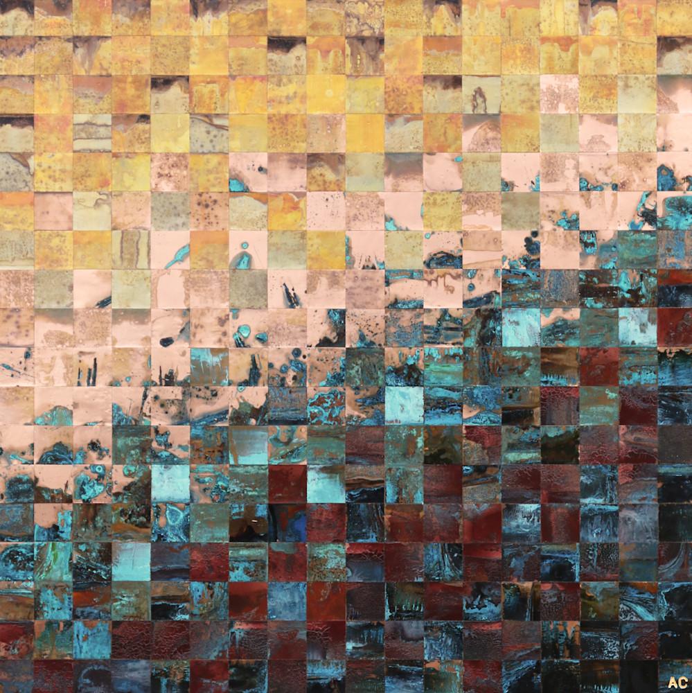 Lower Entropy - Fine copper art mosaic by Adam Colangelo