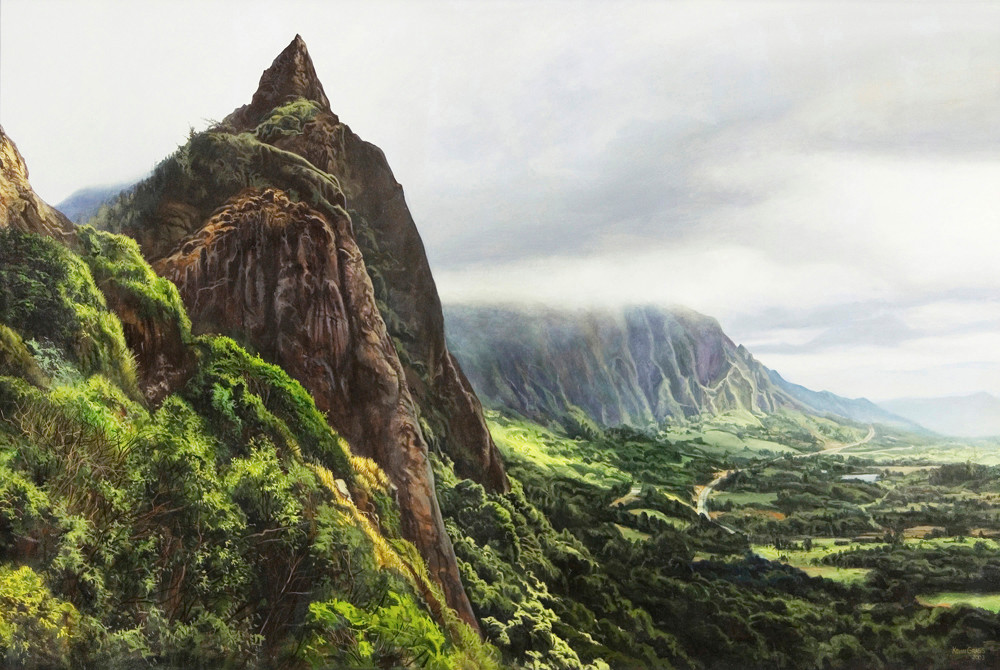 Kevin-Grass-Pali-Overlook-Acrylic-on-canvas-painting-xelixm