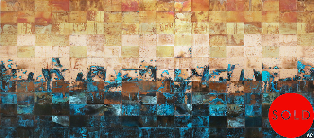 Living, breathing landscapes by copper artist Adam Colangelo