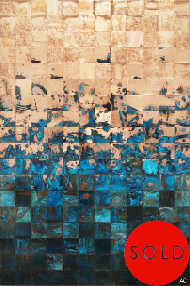 Fjords Series copper art by contemporary artist Adam Colangelo